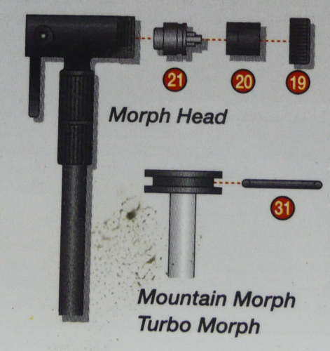 Mountain Morph & Turbo Morph pump spares