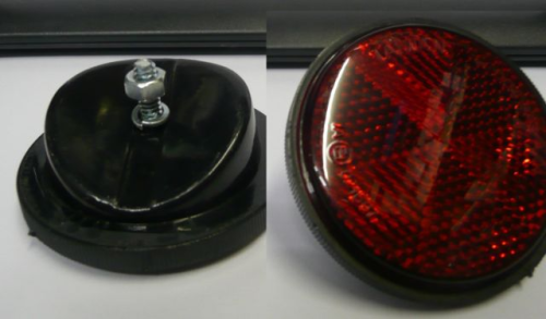 Red Rear Mudguard Fitting Reflector