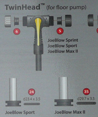 Joe Blow Max 2 Floor Pump spares